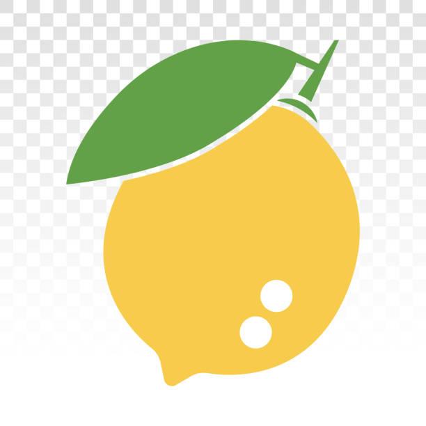 Citrus lemon fruit with leaf flat color icon for apps and websites Citrus lemon fruit with leaf flat color icon for apps and websites limoen stock illustrations