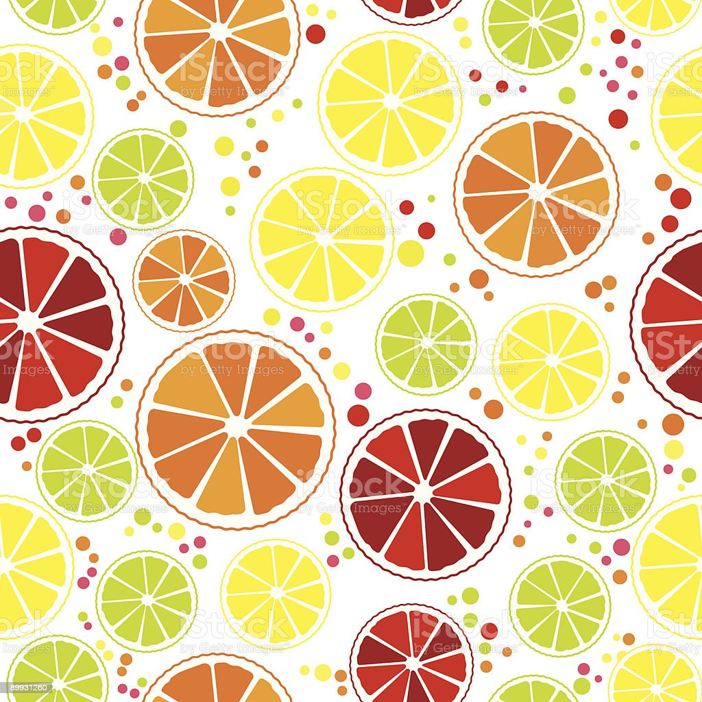 Citrus Seamless vector art illustration