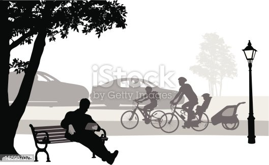 City Activities Vector Silhouette