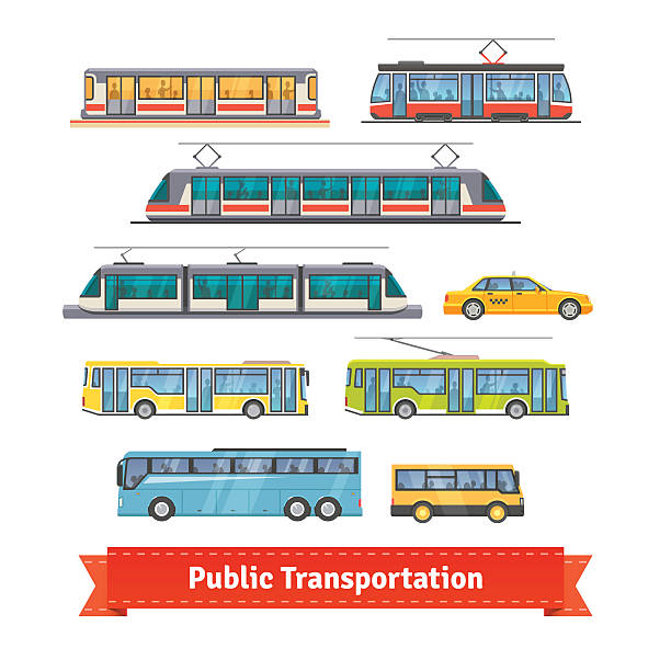 illustrations, cliparts, dessins animés et icônes de ville et service de transport en navette pour les véhicules - métro
