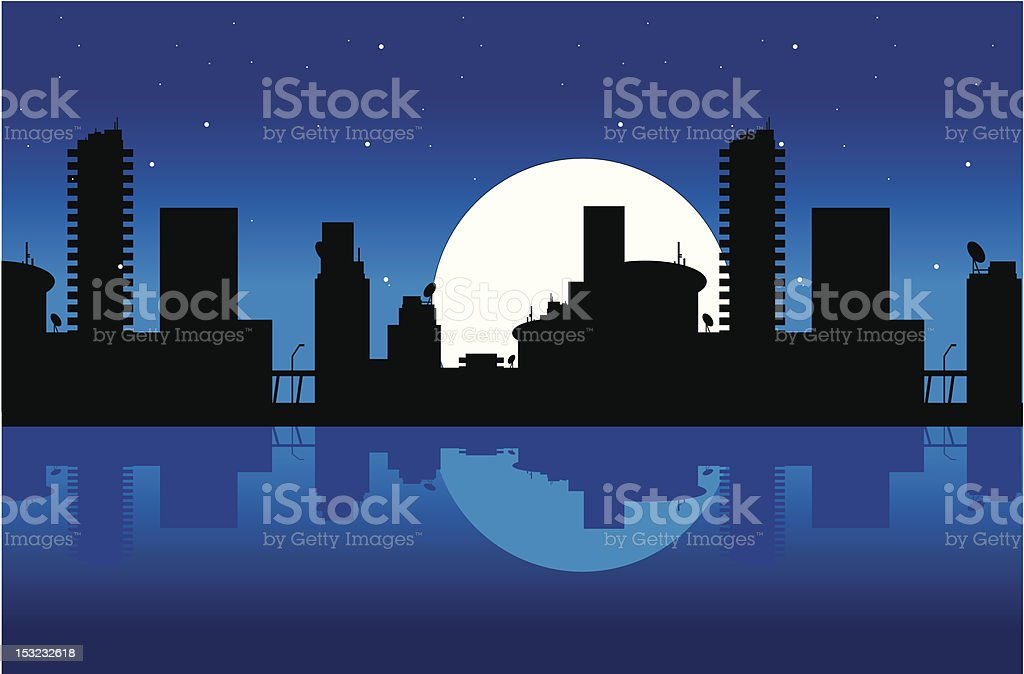 City and night royalty-free stock vector art