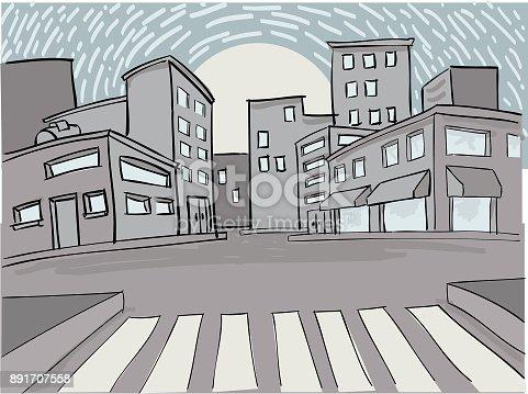 La ciudad al amanecer