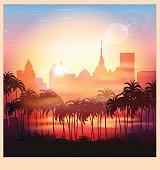 city at sunrise