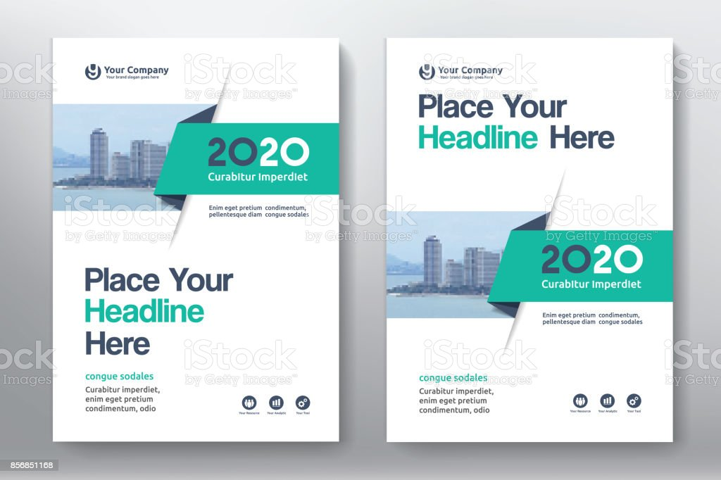 Business Book Cover Design Template : City background business book cover design template stock