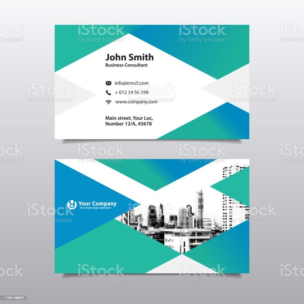 Stadt Hintergrund Visitenkarte Designvorlage Stock Vektor