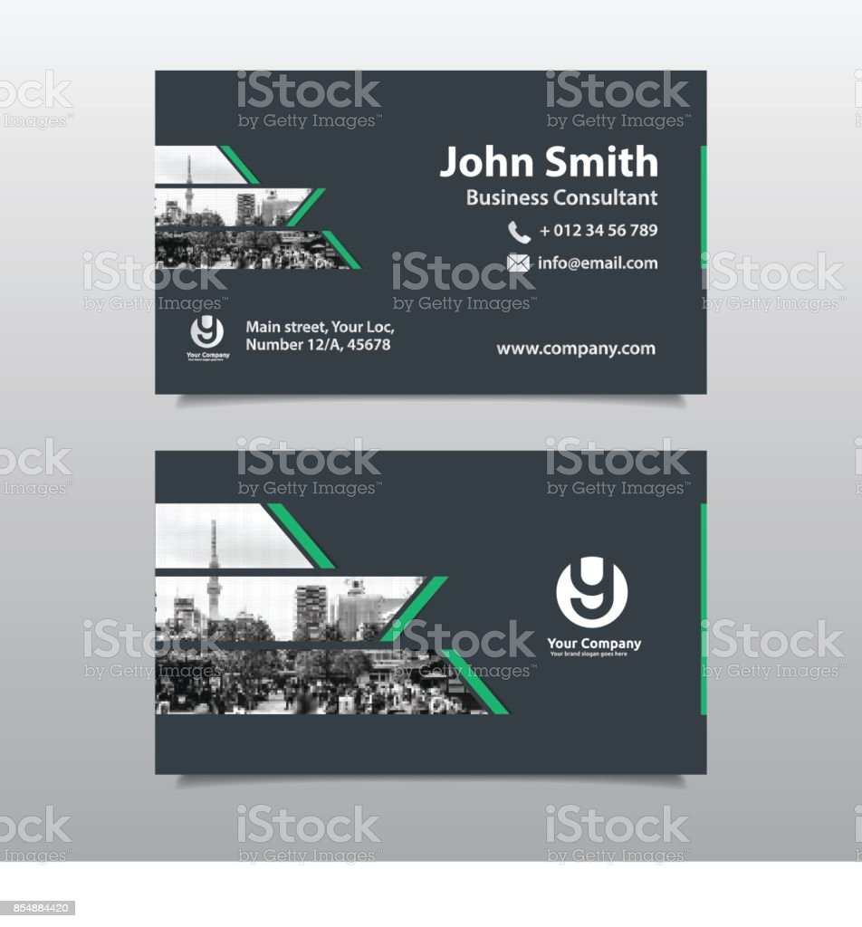 City Background Business Card Design Template Stock Vector Art ...