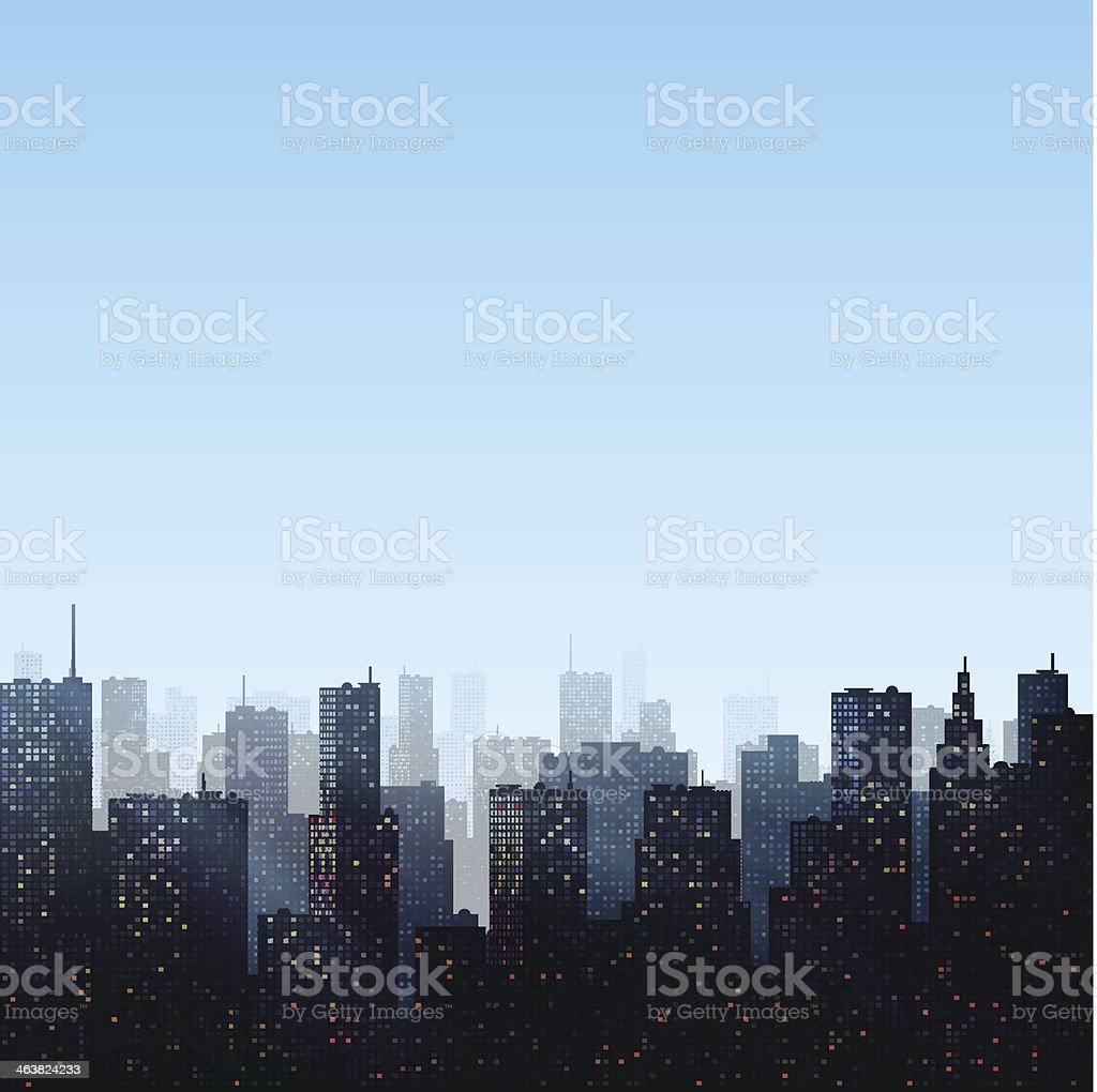City Background vector art illustration