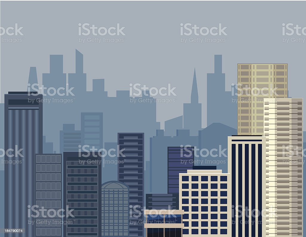 City background - VECTOR royalty-free city background vector stock vector art & more images of architecture