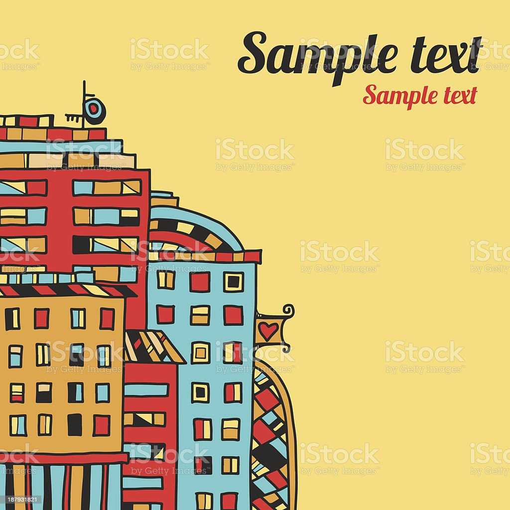 City background with space for text royalty-free stock vector art
