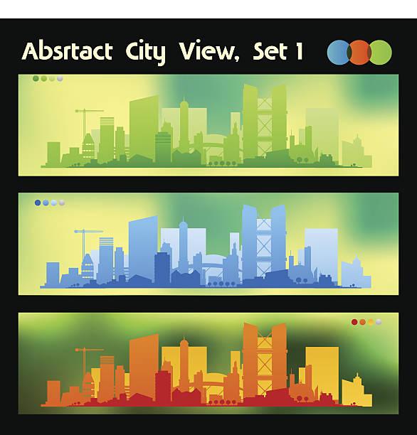 illustrazioni stock, clip art, cartoni animati e icone di tendenza di città di banner di sfondi sfocati - subway