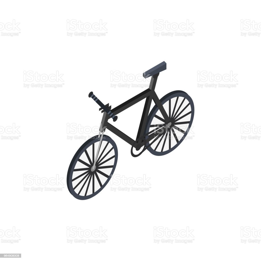 City bicycle isometric 3D element royalty-free city bicycle isometric 3d element stock vector art & more images of bicycle