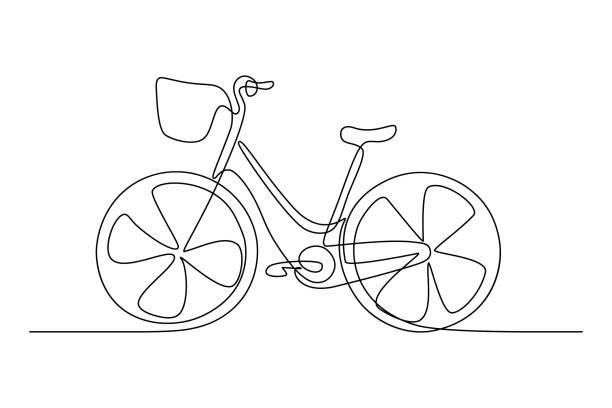 stadtfahrrad - fahrrad stock-grafiken, -clipart, -cartoons und -symbole