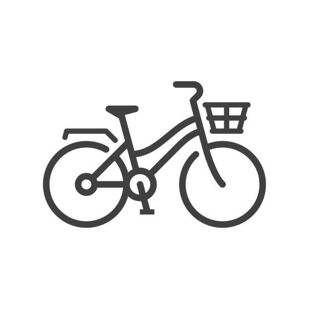 ilustraciones, imágenes clip art, dibujos animados e iconos de stock de icono de la bicicleta de la ciudad - andar en bicicleta