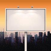 Vector city billboard. Vector illustration EPS10.