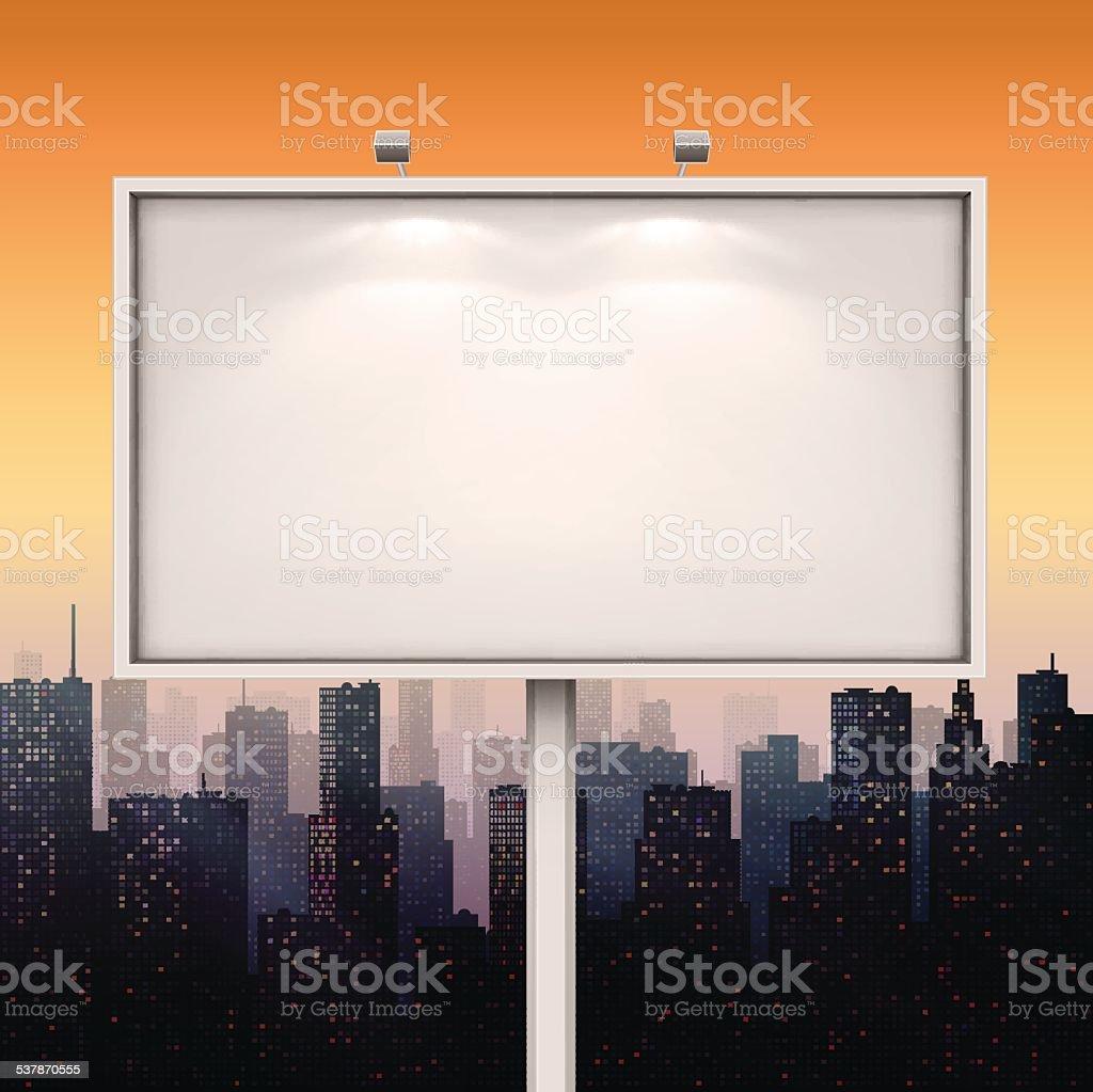 City Billboard vector art illustration