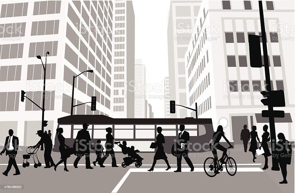 Cidade quarteirão viagens - ilustração de arte em vetor