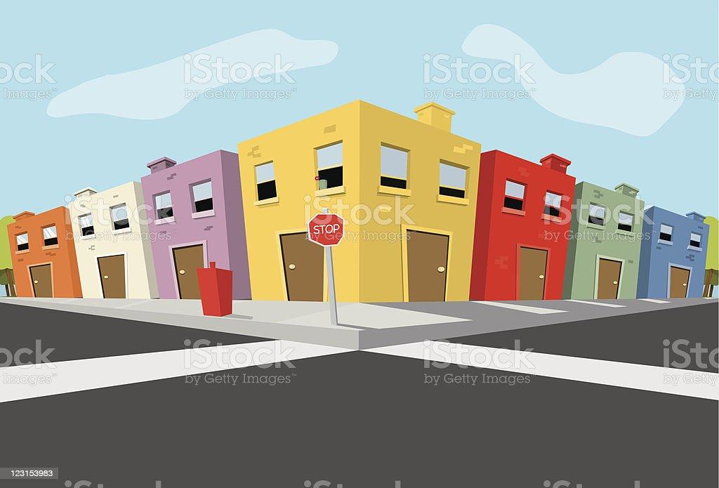 City Block royalty-free stock vector art