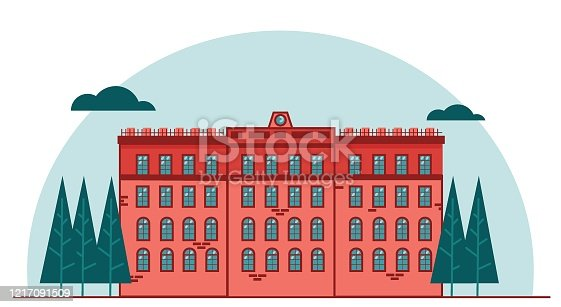 istock City building and trees vector illustration graphic design 1217091509