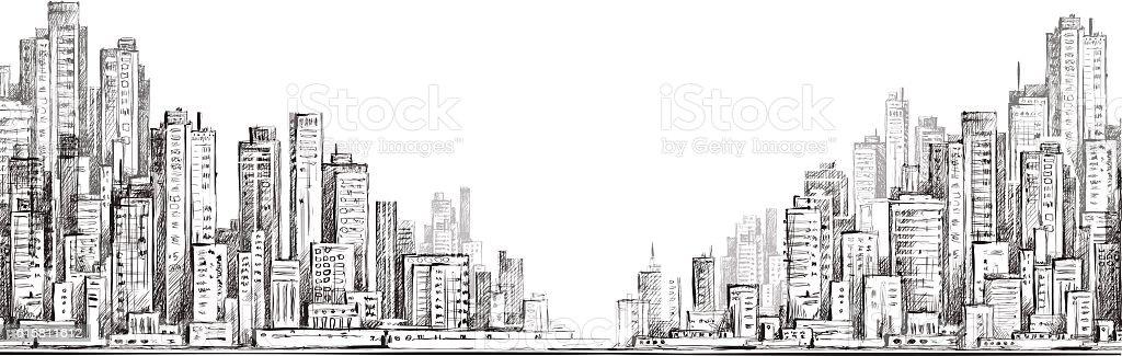 City  building illustraion vector art illustration