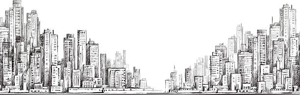 city  building illustraion - graffiti backgrounds stock illustrations, clip art, cartoons, & icons