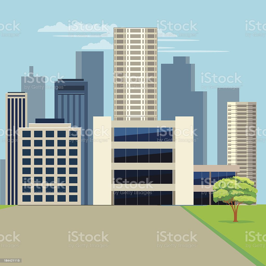 City Buildings Scape royalty-free stock vector art