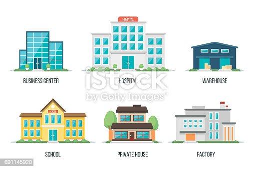 istock City buildings set 2 691145920