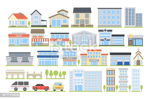 Colorful Apartments Building - Free vector graphic on Pixabay