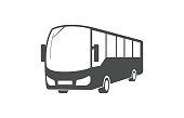 City bus, public transport symbol isolated on white background.