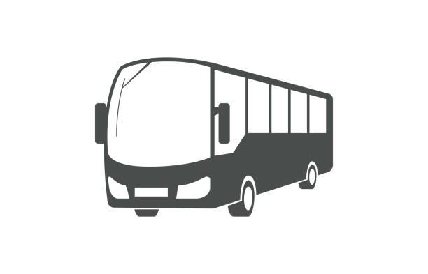 City bus, public transport symbol City bus, public transport symbol isolated on white background. bus stock illustrations