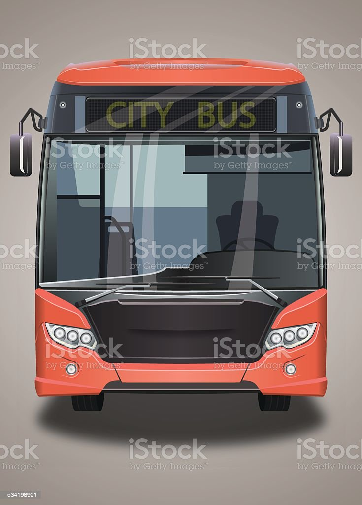city bus vector art illustration