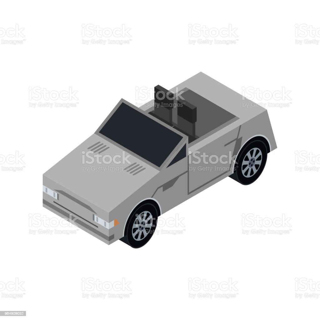 City cabriolet isometric 3D element royalty-free city cabriolet isometric 3d element stock vector art & more images of car