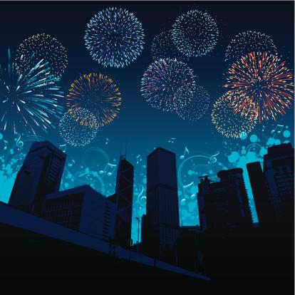 City Celebration Stock Illustration - Download Image Now