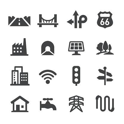 City Construction Icons Set - Acme Series