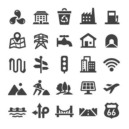 City Construction Icons Set - Smart Series