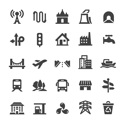 City Construction Icons - Smart Series