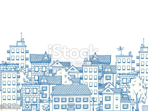 istock City Drawing 165788931