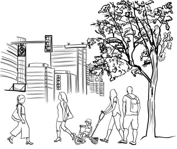 Stadtbewohner – Vektorgrafik