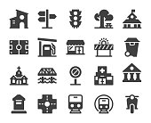 City Element Icons Vector EPS File.