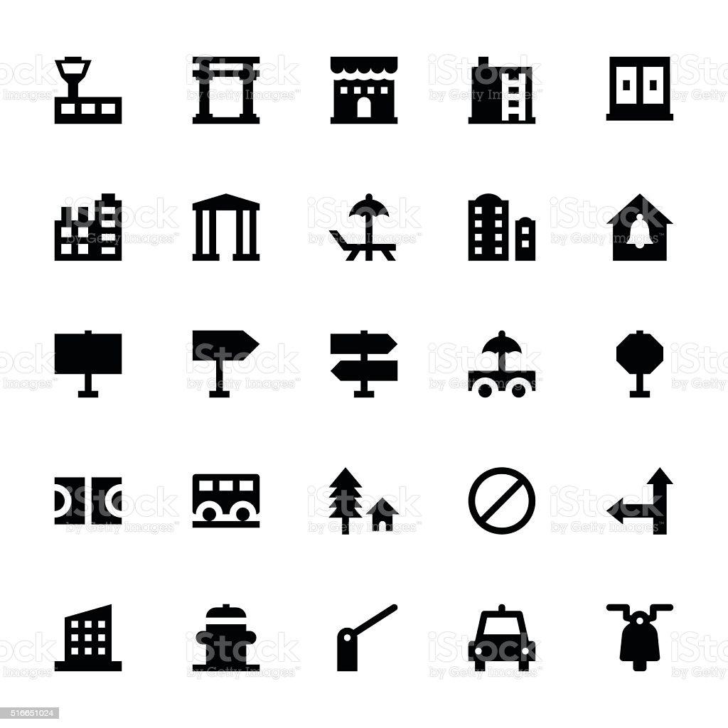 City Elements Vector Icons 8 vector art illustration