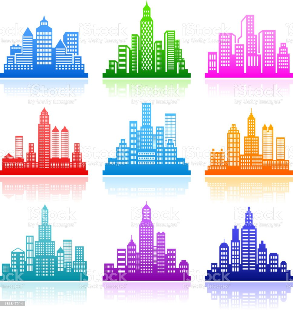 City Emblem color royalty free vector icon set royalty-free city emblem color royalty free vector icon set stock vector art & more images of advertisement