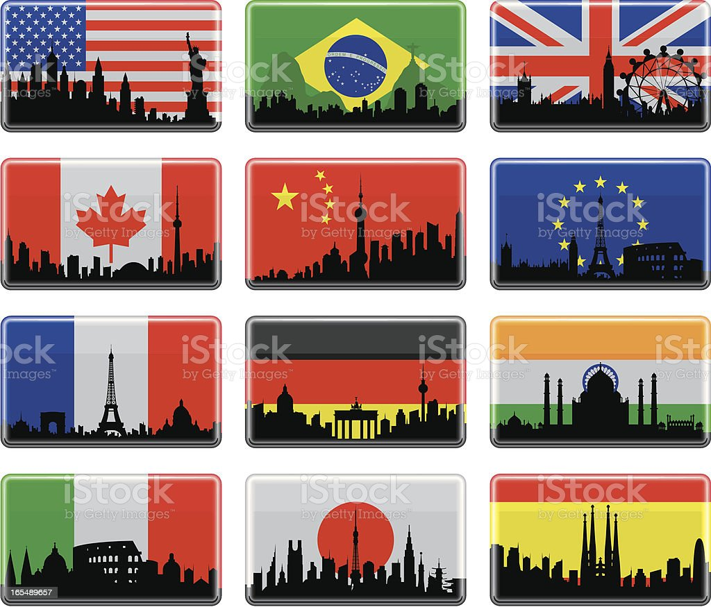 City Flags royalty-free city flags stock vector art & more images of american flag