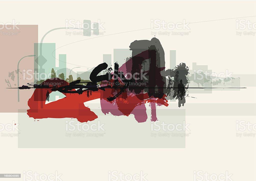 city-graffiti Hintergrund – Vektorgrafik
