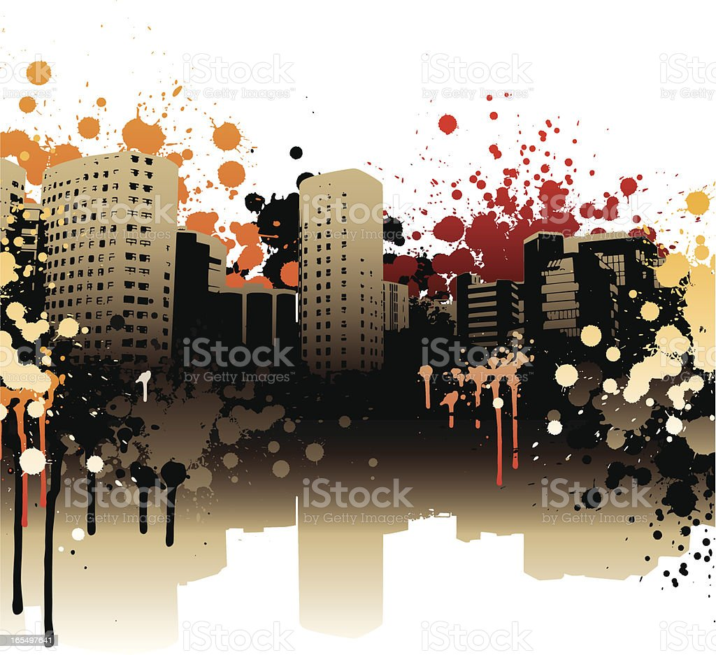 City grunge royalty-free stock vector art