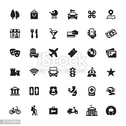 City Guide And Navigation Icon Set Stock Vector Art & More