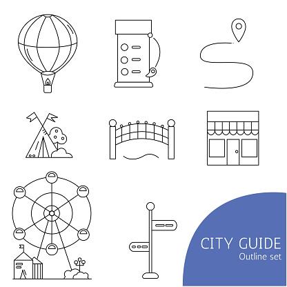 City guide icon set