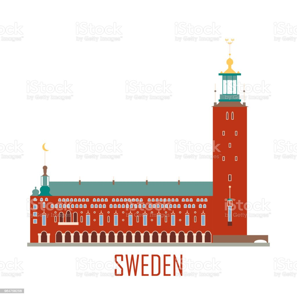 City Hall in Stockholm Sweden royalty-free city hall in stockholm sweden stock vector art & more images of ancient