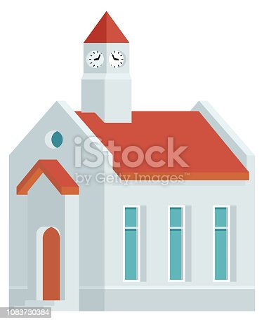 istock City Hall Mayor Building Vector Icon 1083730384