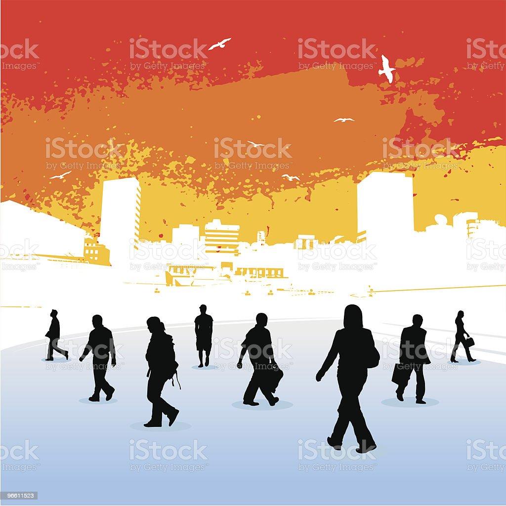 Stadt-Hitze - Lizenzfrei Arbeiten Vektorgrafik