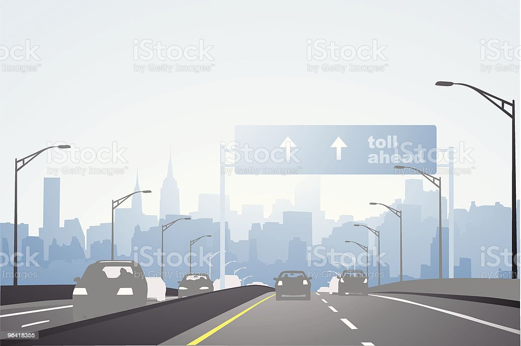 City highway vector art illustration