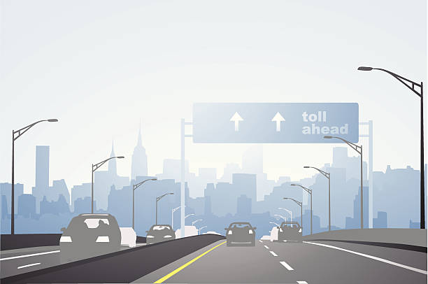 stockillustraties, clipart, cartoons en iconen met city highway - westers schrift